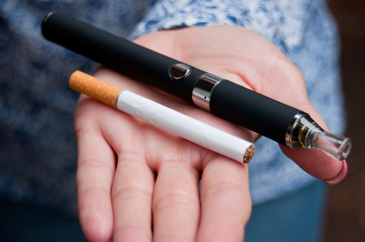 hand of woman with e-cigarette